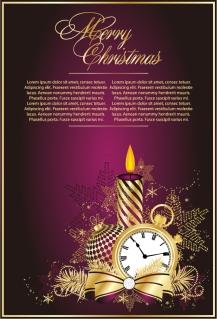 クラシックなクリスマスの背景素材 classic christmas background vector イラスト素材2