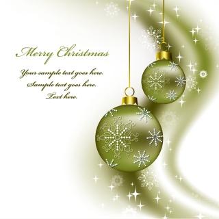 光が波打つクリスマス ボールの背景 christmas background vector イラスト素材3