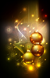 美しく輝くクリスマス ボールの背景 star studded christmas ball background イラスト素材2
