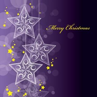 星と雪で美しく描くクリスマスの背景 beautiful christmas background vectorイラスト素材5