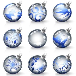輝くクリスマス ボール crystal texture of the christmas ball イラスト素材