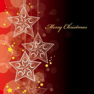星と雪で美しく描くクリスマスの背景 beautiful christmas background vectorイラスト素材2