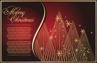 クラシックなクリスマスの背景素材 classic christmas background vector イラスト素材5