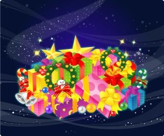 豪華なクリスマス プレゼント beautiful christmas gift vector イラスト素材1