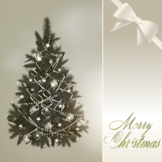 ゴージャスなクリスマス・ツリーとボール gorgeous christmas tree and the ball イラスト素材2