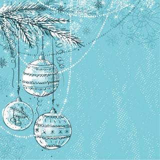 お洒落なクリスマス ボールの背景 christmas ball background vector イラスト素材4