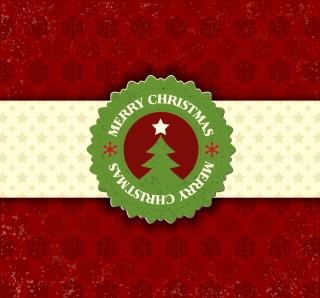 クリスマスに因んだ雪の結晶のラベル christmas snowflake pattern label イラスト素材