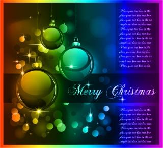 豪華なクリスマス ボールの背景 christmas ball background vector イラスト素材3