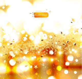 金色に輝くクリスマスの背景 Vector Christmas dream イラスト素材