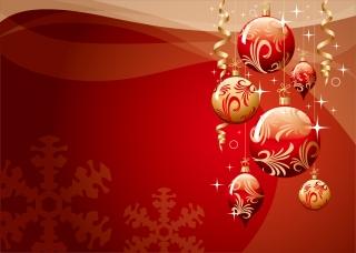豪華なクリスマス ボールの背景 christmas ball background vector イラスト素材2