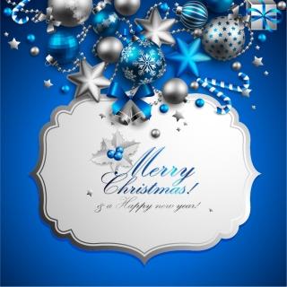 クリスマス素材で飾ったテキスト プレート beautiful christmas ornaments background イラスト素材