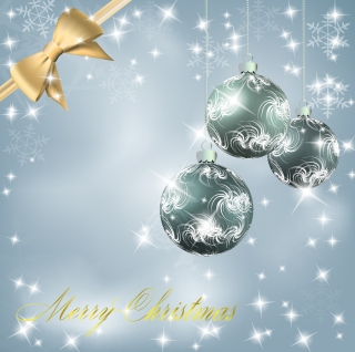 お洒落なクリスマス ボールの背景 christmas ball background vector イラスト素材1