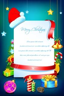 クリスマス用に飾り付けたテキスト スペース beautiful christmas elements イラスト素材