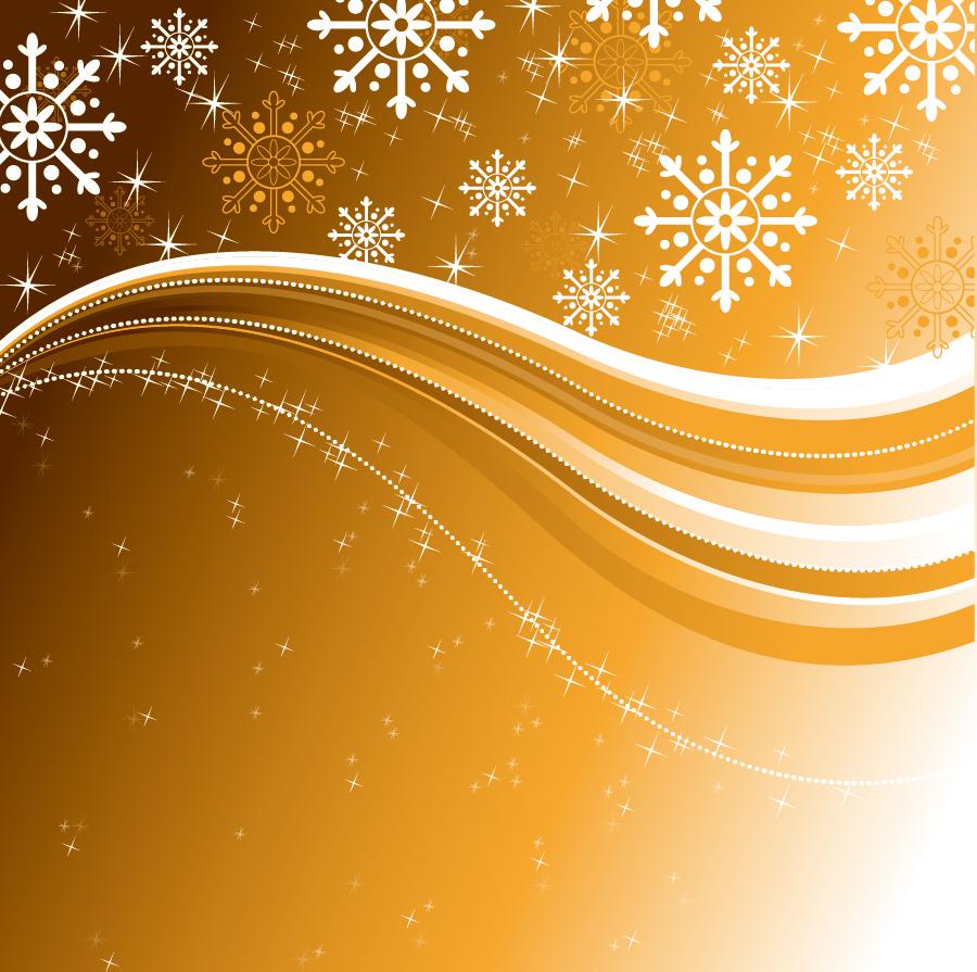 星と雪で美しく描くクリスマスの背景 beautiful christmas background