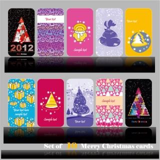 クリスマス・カードのテンプレート beautiful cartoon christmas card vector イラスト素材