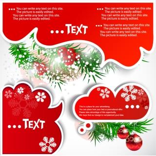 クリスマスをイメージしたテキスト用吹き出し christmas notes vector イラスト素材