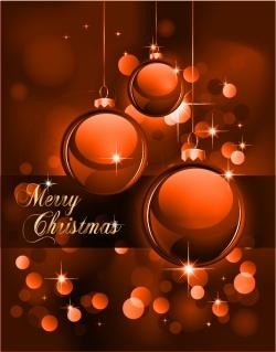 豪華なクリスマス ボールの背景 christmas ball background vector イラスト素材4