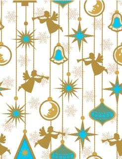 クリスマスを祝う天使の背景 angel christmas background vector イラスト素材3