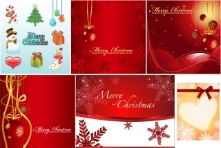 クリスマスを祝うクールな背景 festive christmas background vector イラスト素材3