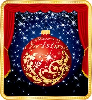 幕間のクリスマス ハンギング ボール christmas ball vector イラスト素材