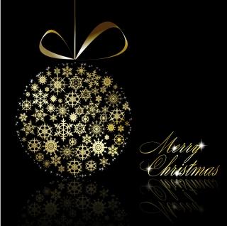 お洒落なクリスマス ボールの背景 christmas ball background vector イラスト素材3