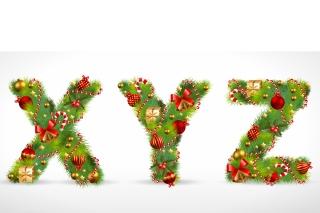 クリスマス飾りで模ったX Y Zの文字 christmas ornaments composed of letters イラスト素材