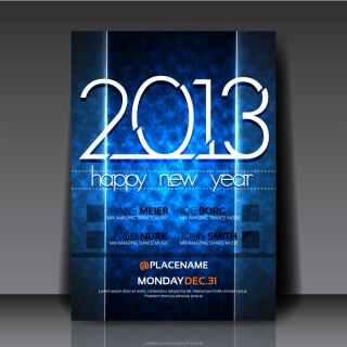 新年用フライヤー テンプレート 2013 New Year flyer templates イラスト素材5
