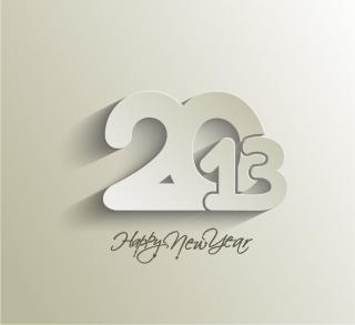 モダンな新年のタイポグラフィ modern 2013 New Year trendy typography イラスト素材5