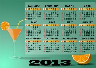 新年のカレンダー テンプレート セット Set of 6 vector 2013 calendar templates イラスト素材1