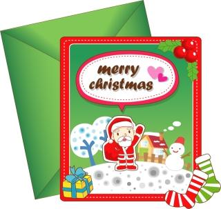 愛らしいクリスマス・カード テンプレート 8 lovely christmas card vector イラスト素材6