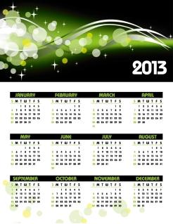 新年のカレンダー テンプレート 2013 calendar templates vector イラスト素材4