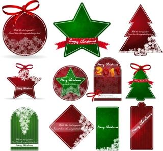クリスマス・セールのお洒落なディスカント タグ christmas sales discount tag vector イラスト素材2