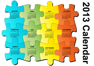 新年のカレンダー テンプレート セット Set of 6 vector 2013 calendar templates イラスト素材2