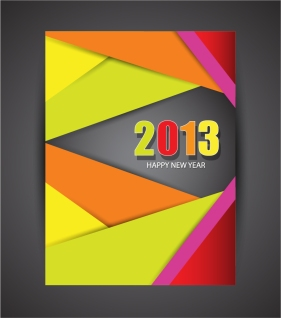 新年向けのお洒落なフライヤー テンプレート 2013 New Year flyers designs in trendy modern style イラスト素材1