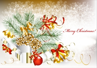 新年とクリスマスの背景 2013 New Year and Christmas cards vector イラスト素材3