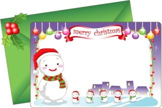 愛らしいクリスマス・カード テンプレート 8 lovely christmas card vector イラスト素材4