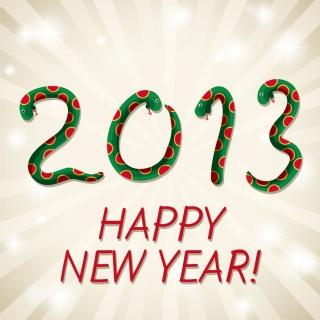 干支の蛇で象る新年の数字 New Year 2013 snake backgrounds イラスト素材1
