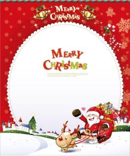 サンタクロースのクリスマス・カード Christmas Card with Santa Claus イラスト素材