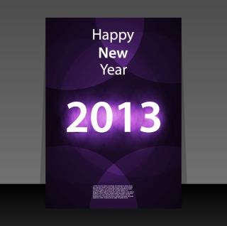 新年用フライヤー テンプレート 2013 New Year flyer templates イラスト素材2