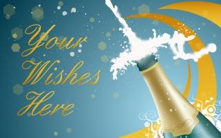 新年を祝うシャンパン New Year Champagne イラスト素材