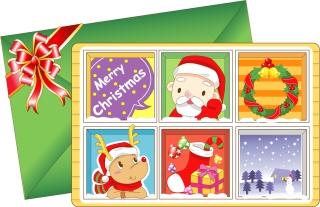愛らしいクリスマス・カード テンプレート 8 lovely christmas card vector イラスト素材