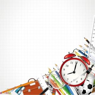 学校・文房具の背景、バナー・フレーム school backgrounds, banners and frames イラスト素材2