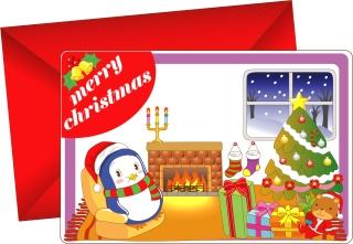 愛らしいクリスマス・カード テンプレート 8 lovely christmas card vector イラスト素材7