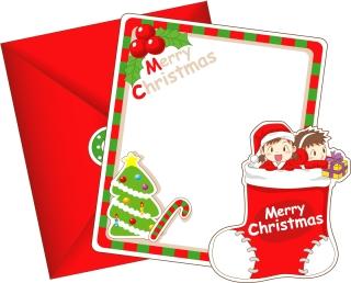 愛らしいクリスマス・カード テンプレート 8 lovely christmas card vector イラスト素材1