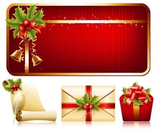 光沢あるクリスマス素材・バナー high quality christmas element vector イラスト素材3