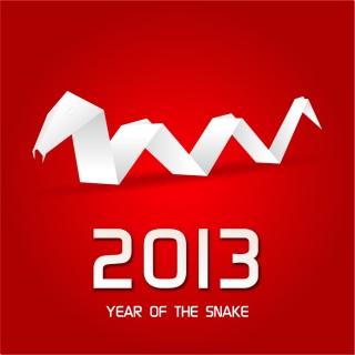 新年の干支(へび)のカード テンプレート 2013 year of the snake cards イラスト素材4