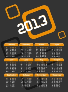 2013年のカレンダー テンプレート 2013 calendars in different styles イラスト素材4