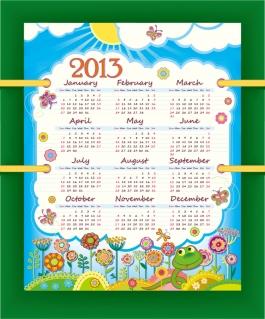 新年のモダンなカレンダー テンプレート New Year 2013 modern calendar designs イラスト素材2