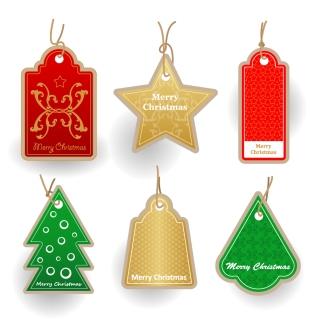 クリスマス・セールのお洒落なディスカント タグ christmas sales discount tag vector イラスト素材4