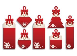 クリスマス・セールのお洒落なディスカント タグ christmas sales discount tag vector イラスト素材5